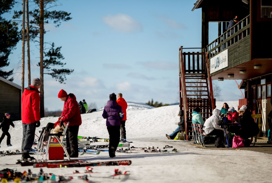 Tjamstanbackarna is a ski paradise for kids